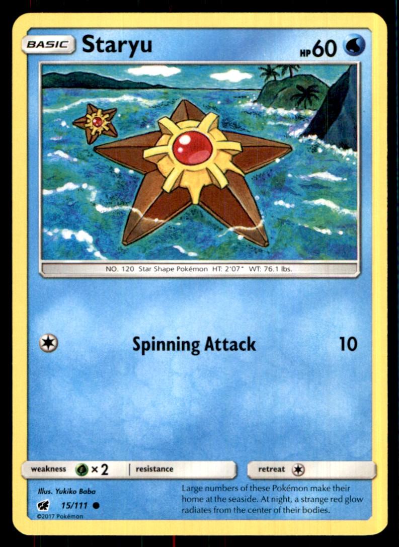 2017 Sun & Moon - Crimson Invasion Staryu #15 card front image