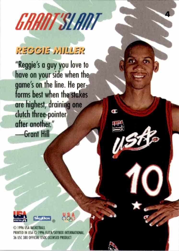 1996-97 SkyBox USA Reggie Miller Gs #4 card back image