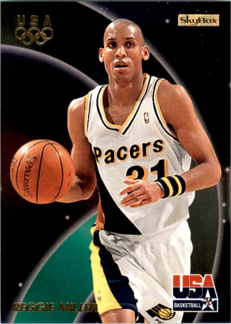 1996-97 SkyBox USA Reggie Miller Gs #4 card front image