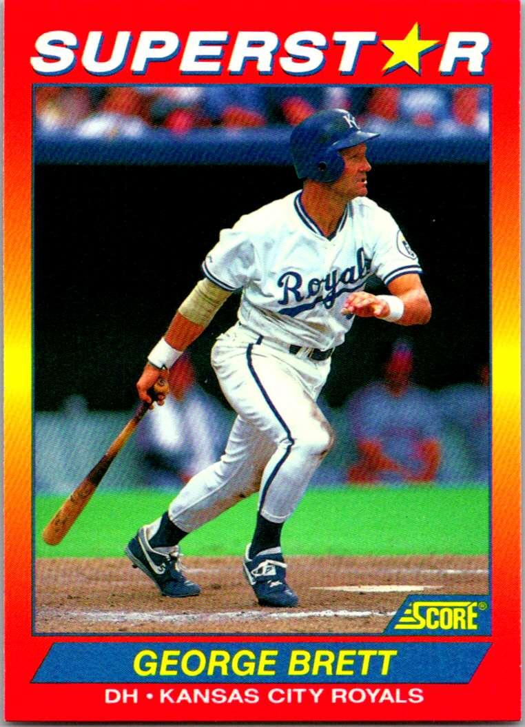1992 Score 100 Superstars George Brett #21 card front image