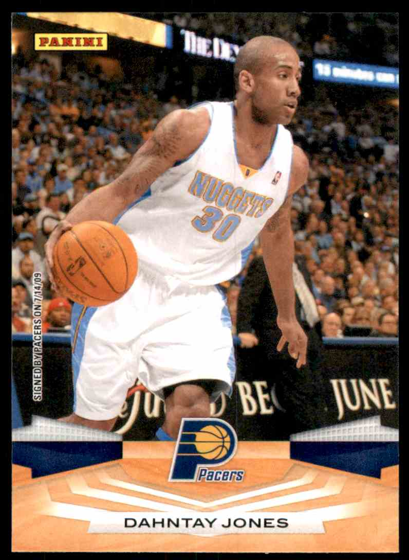 2009-10 Panini Dahntay Jones #93 card front image