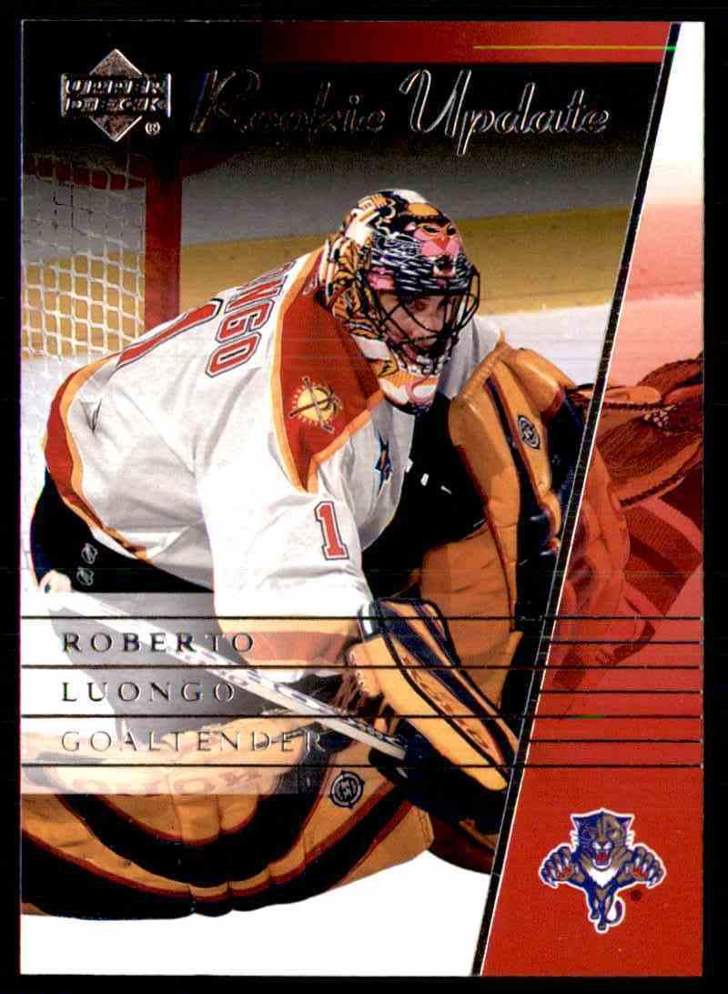 2003 04 Upper Deck Rookie Update Roberto Luongo 45 On Kronozio