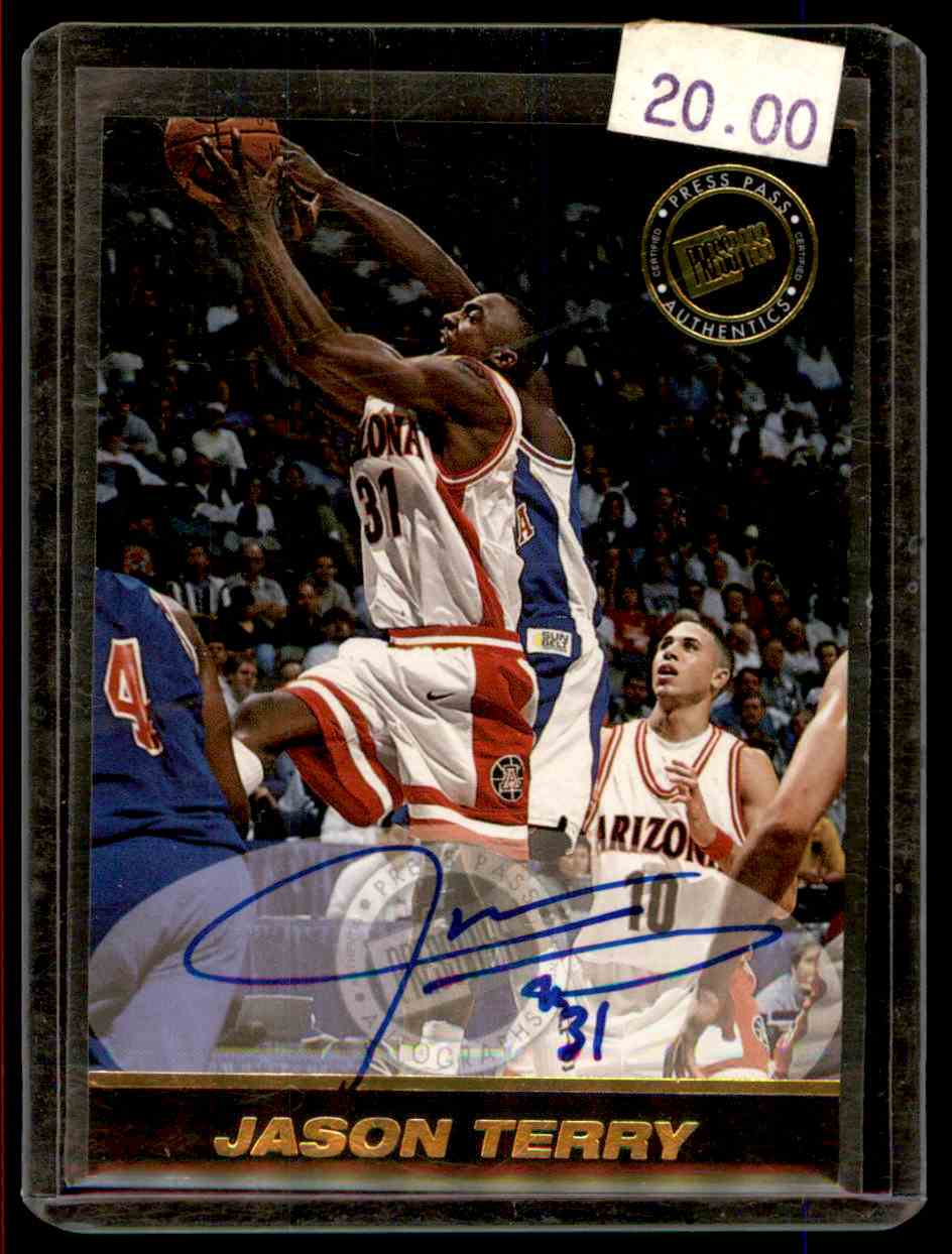 1999-00 Press Pass Authentics Autographs Jason Terry #8 card front image