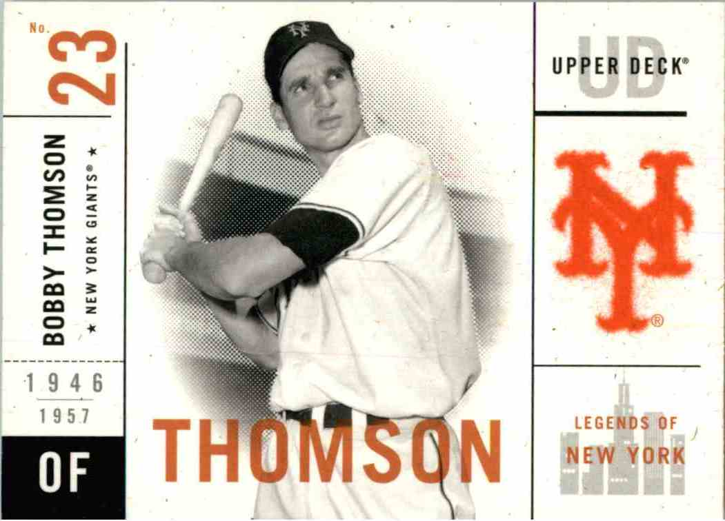 2001 Upper Deck Bobby Thomson #32 card front image
