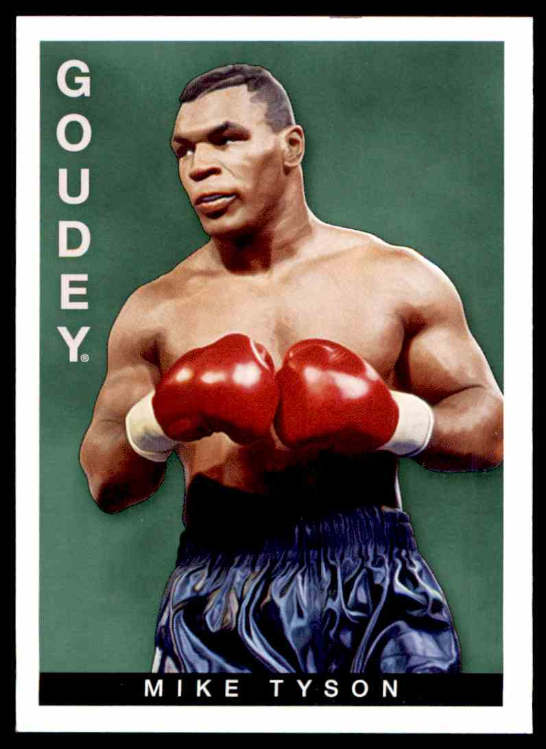 2015 UD Goudey Mike Tyson #11 card front image