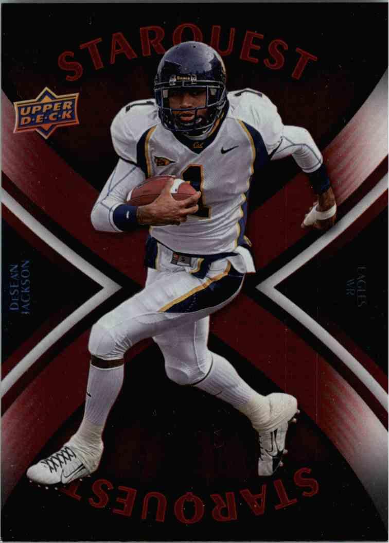 2008 Upper Deck Desean Jackson #SQ9 card front image