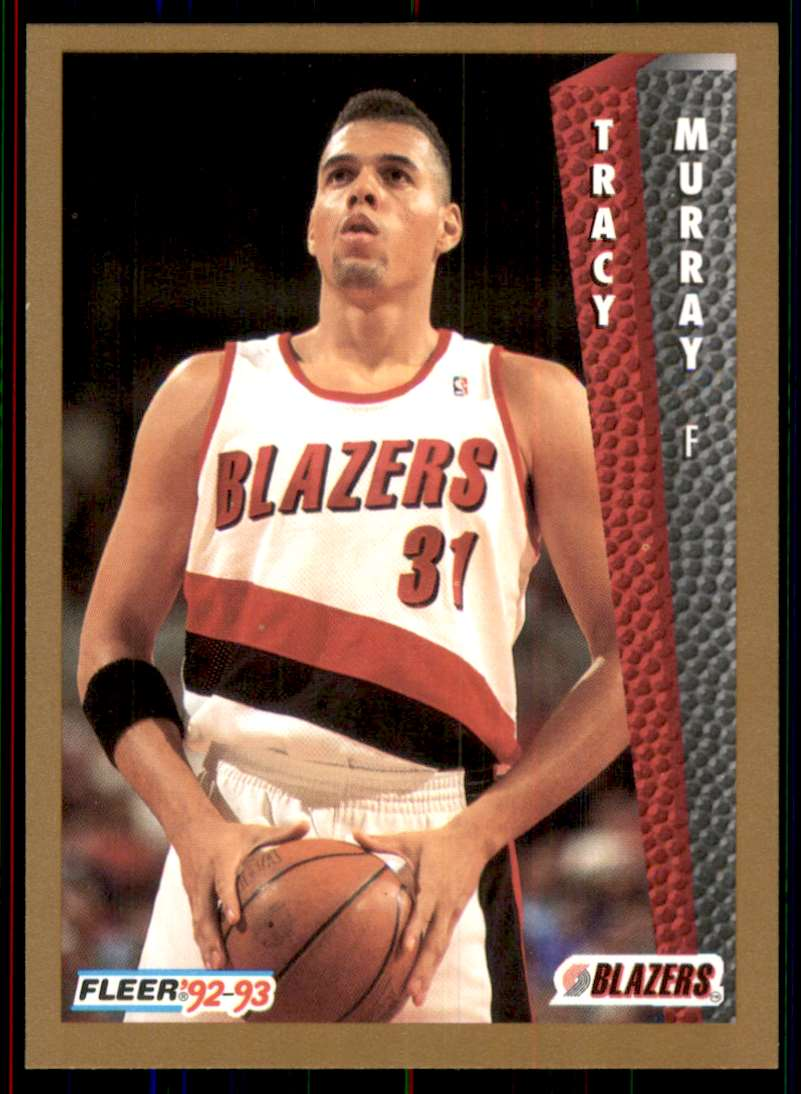 1992-93 Fleer Tracy Murray RC #418 card front image