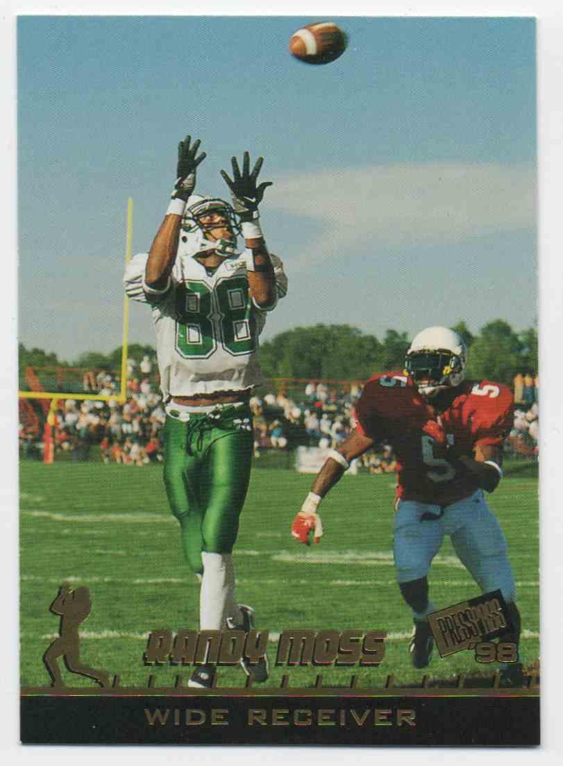 1998 Press Pass Randy Moss #1 card front image