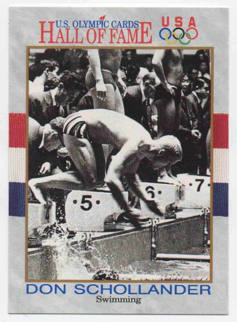 1991 Impel U.S. Olympic Hall Of Fame Don Schollander #10 card front image