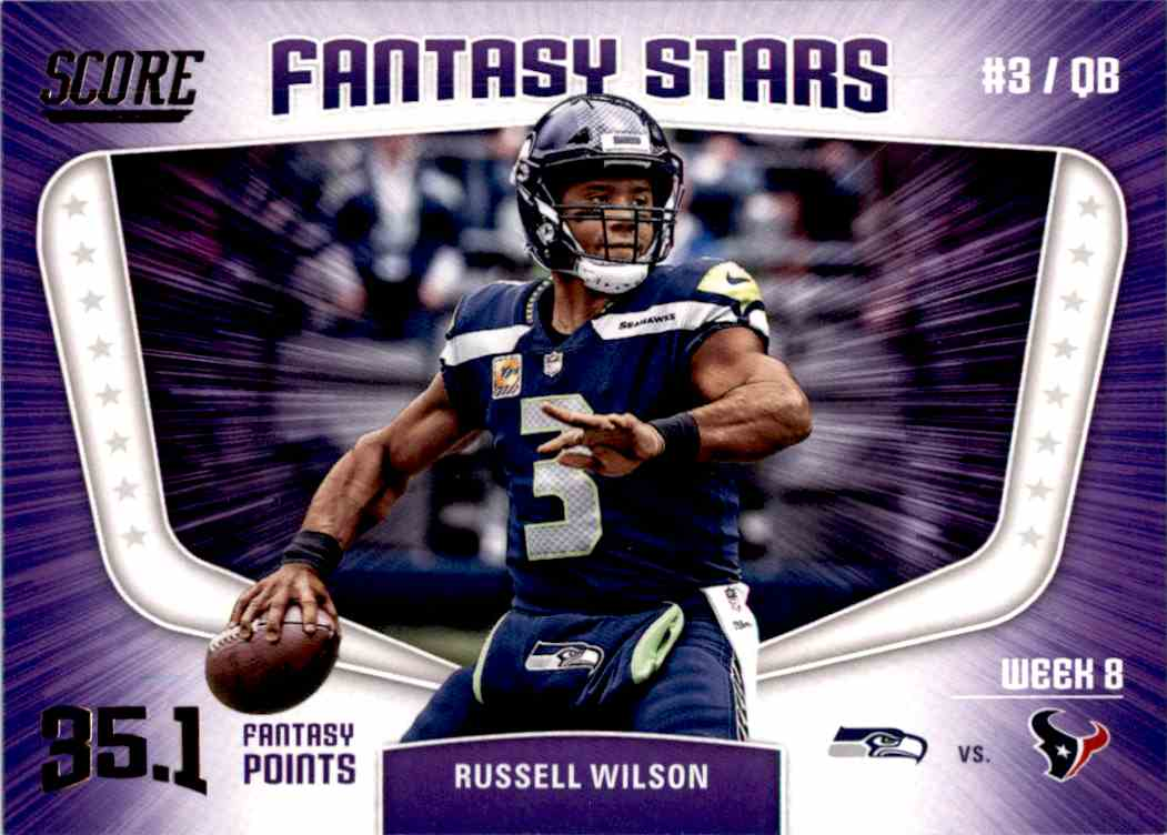 2018 Panini Score Fantasy Stars Russell Wilson #12 card front image