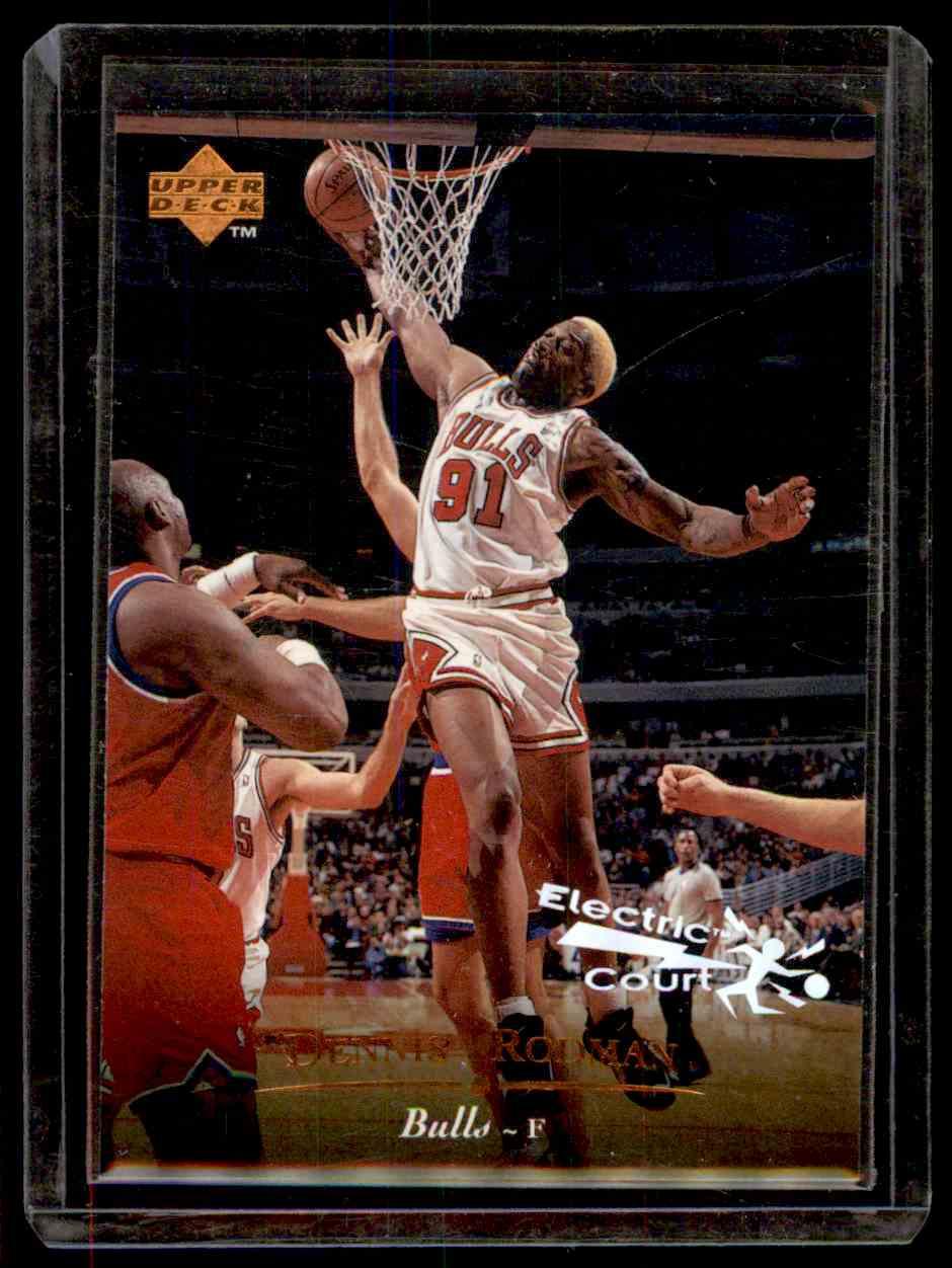1995-96 Upper Deck Electric Court Dennis Rodman #266 card front image