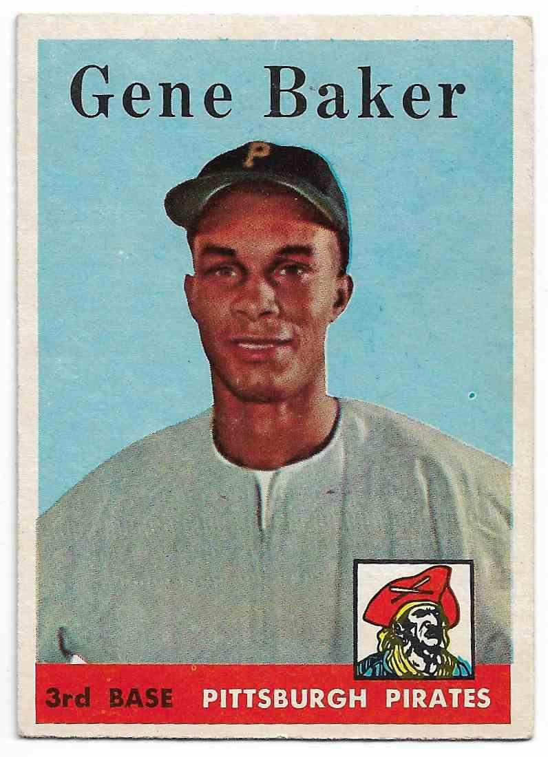 1958 Topps Gene Baker #358 card front image