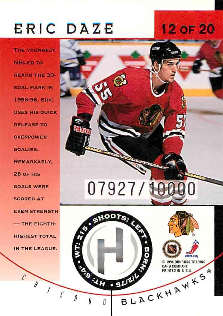 1996-97 Donruss Eric Daze #12 card back image