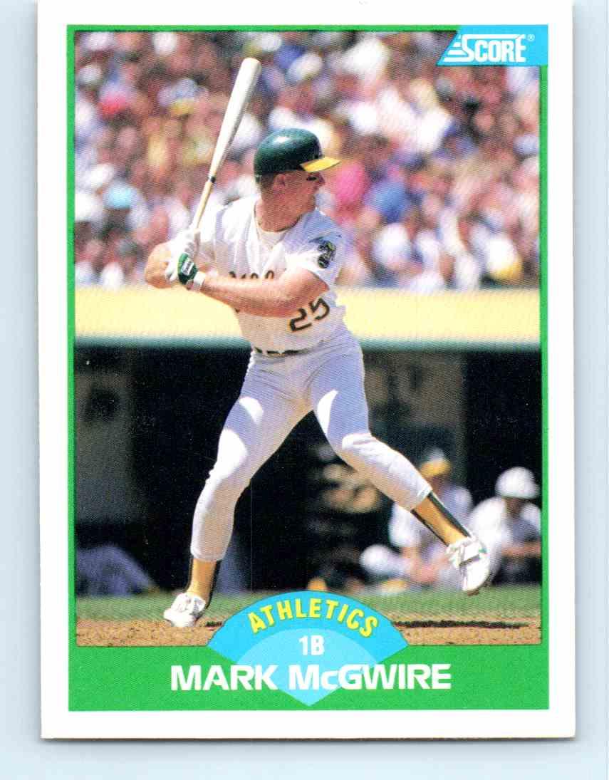 1989 Score Mark Mcgwire 3 On Kronozio