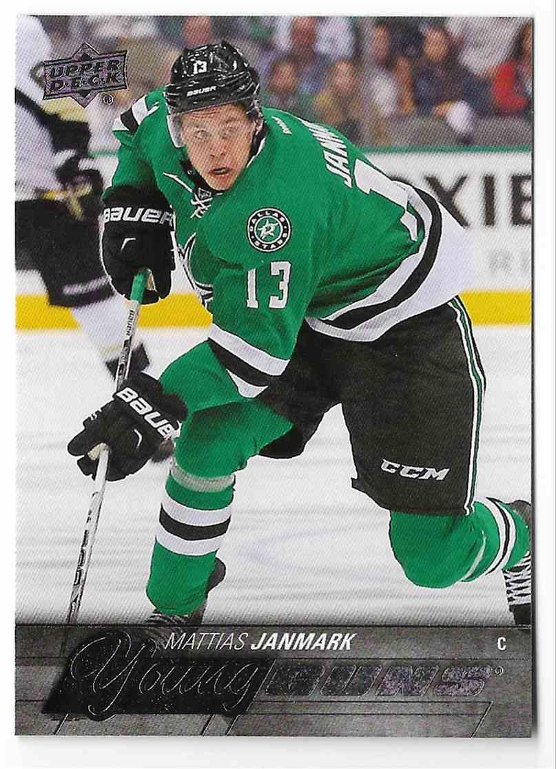 2015-16 Upper Deck Mattias Janmark #244 card front image