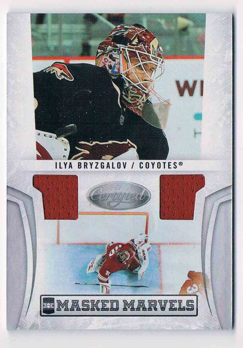 2010-11 Panini Certified Masked Marvels Ilya Bryzgalov #22 card front image