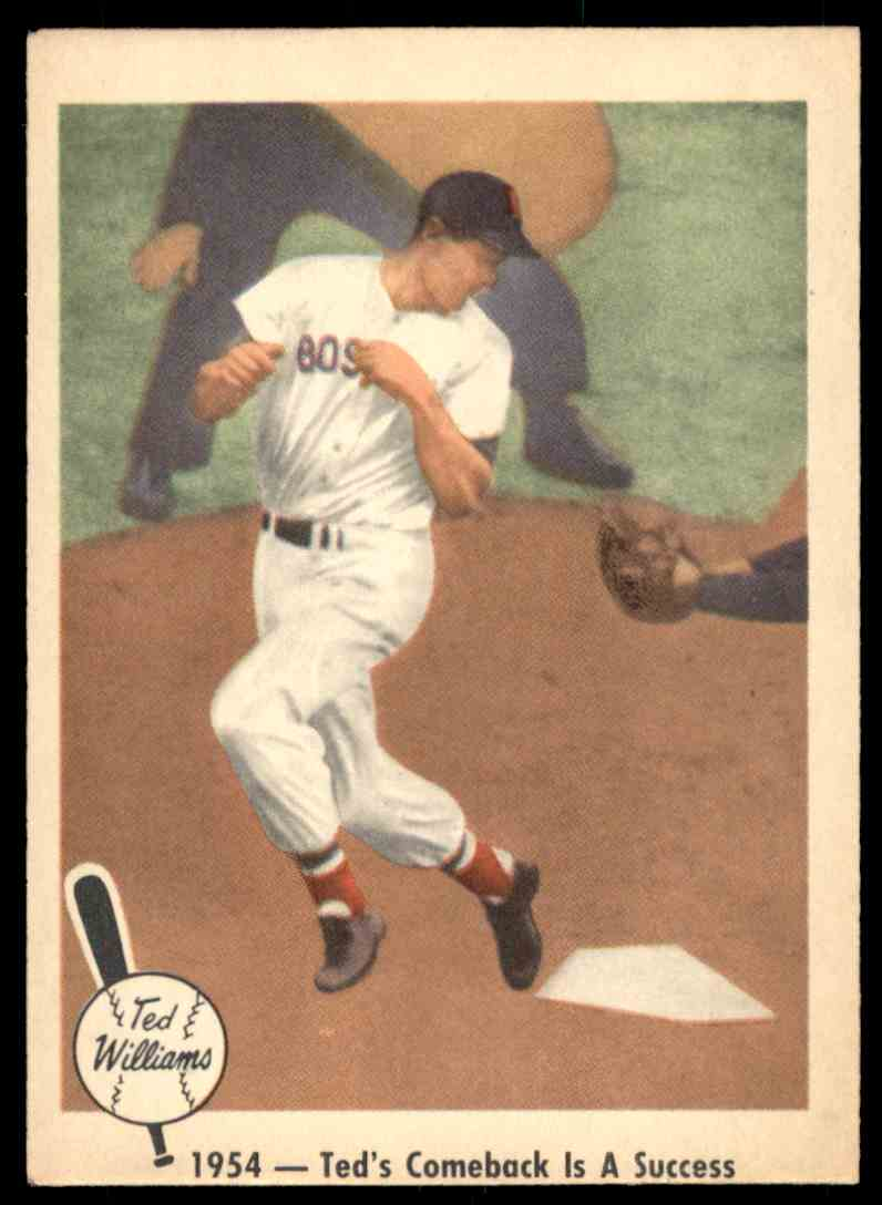 1959 Fleer Ted Williams 1954 - Ted's Comeback Is A Success #53 card front image