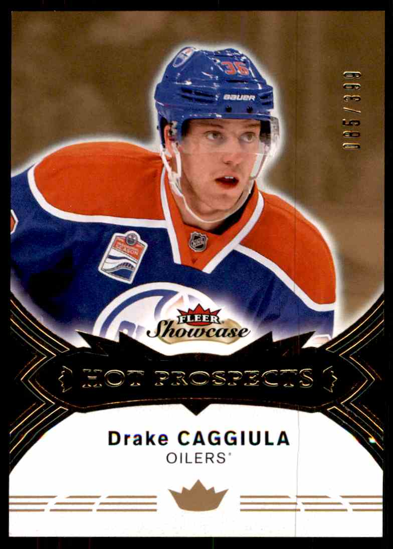 2016-17 Fleer Showcase Hot Prospects Drake Caggiula #124 card front image