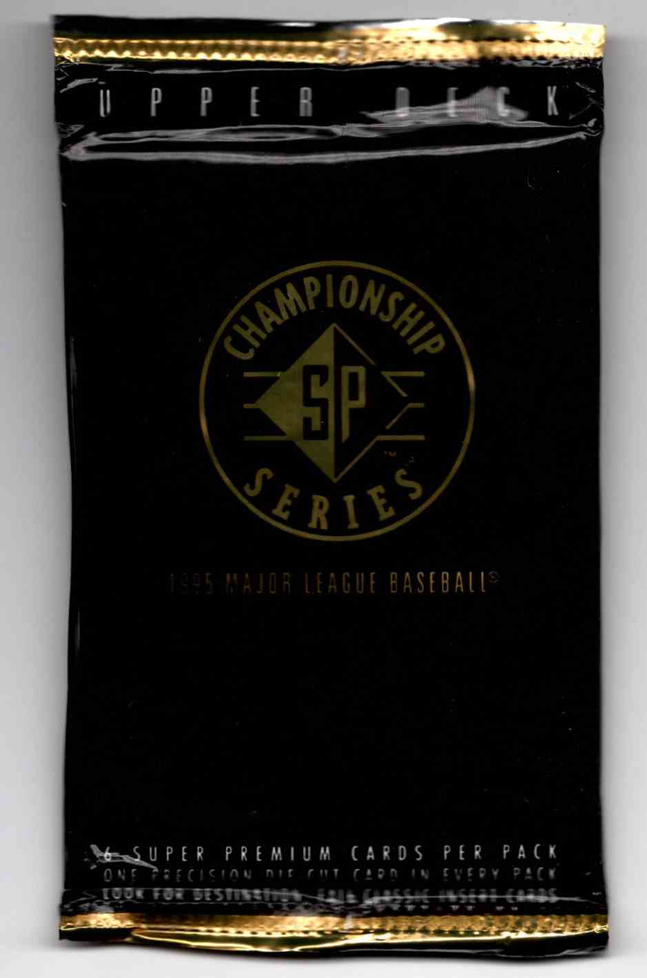 1995 SP Championship Unopened Pack #6 card front image