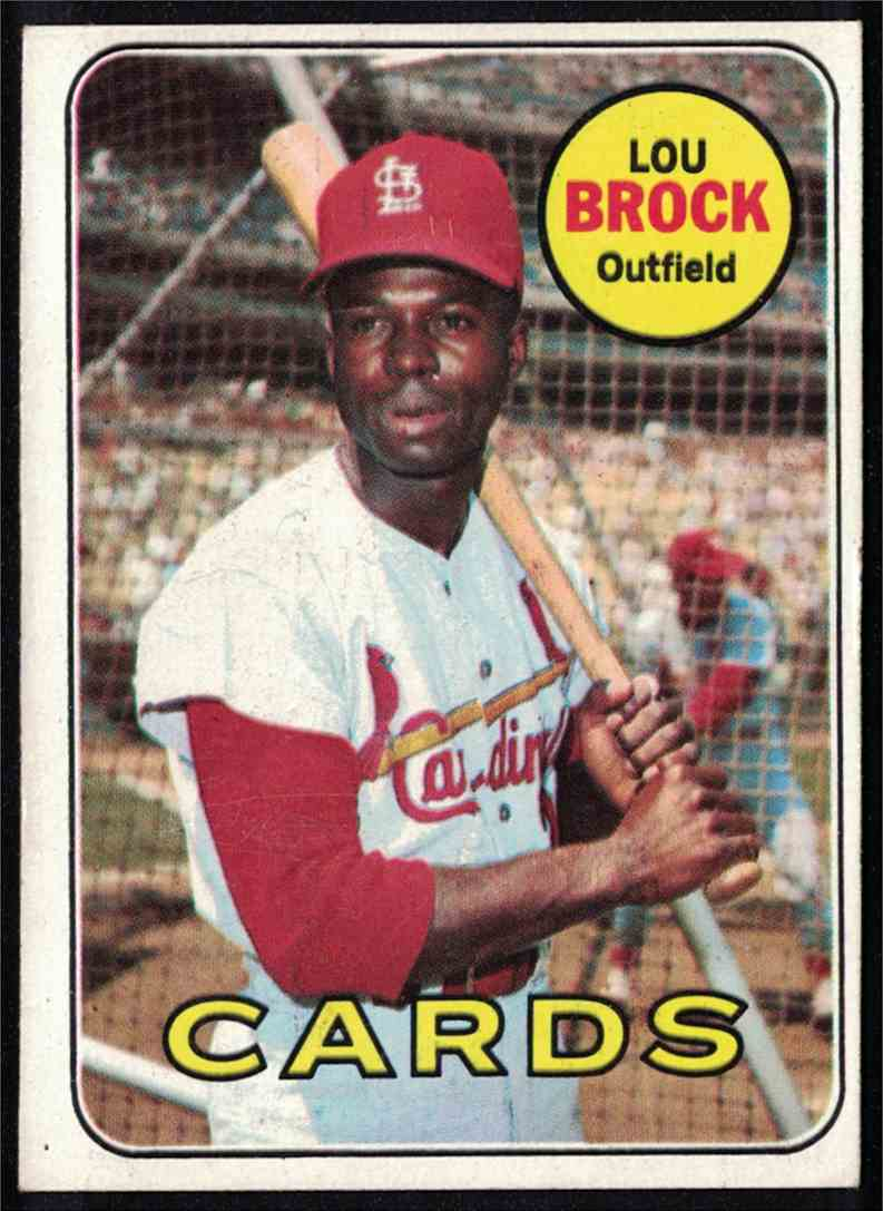 1969 Topps Lou Brock EX+/EXMT #85 card front image