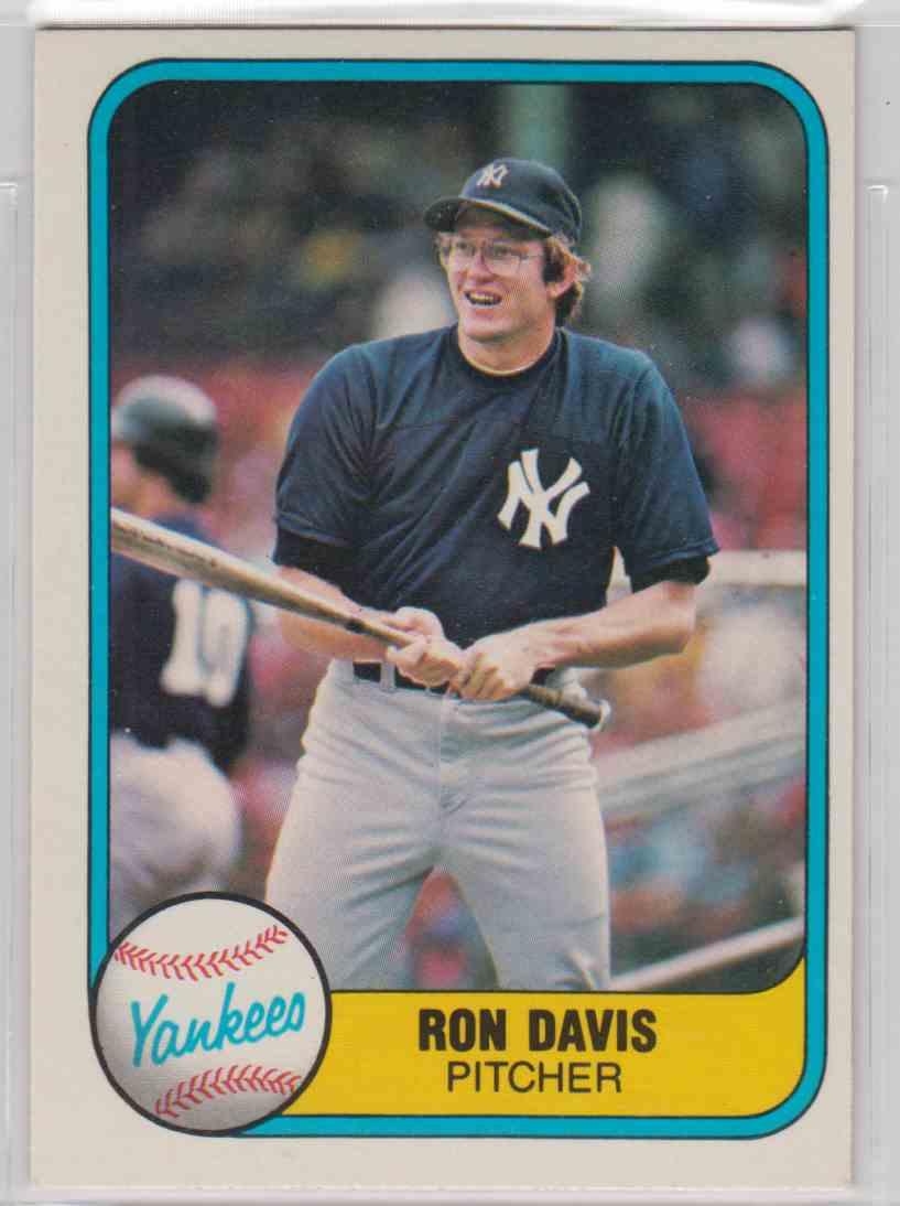 1981 Fleer Ron Davis 86 On Kronozio