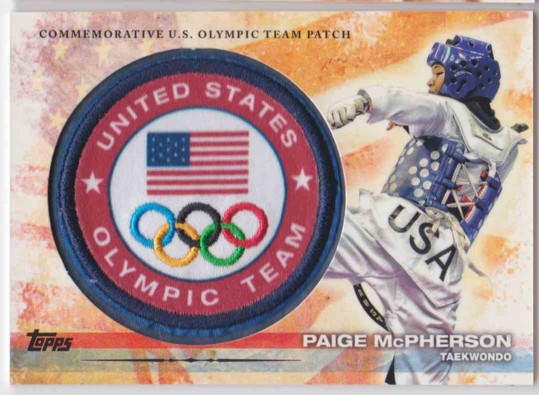 2012 Topps Commemorative U.S. Olympic Team Patch Paige Mcpherson #ULP-PM card front image