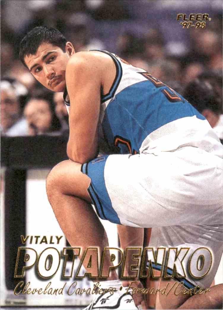 1997-98 Fleer Vitaly Potapenko #136 card front image