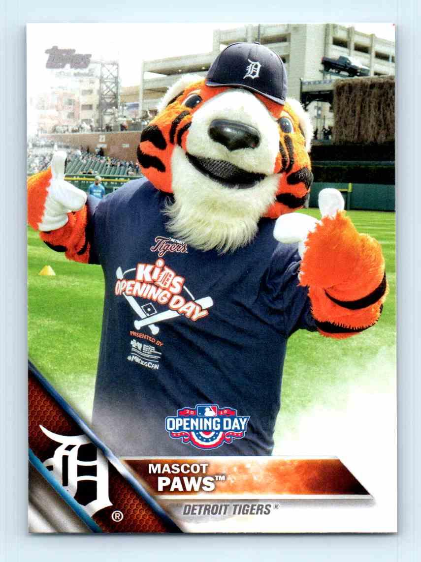 2016 Topps Opening Day Detroit Tigers M 1 On Kronozio