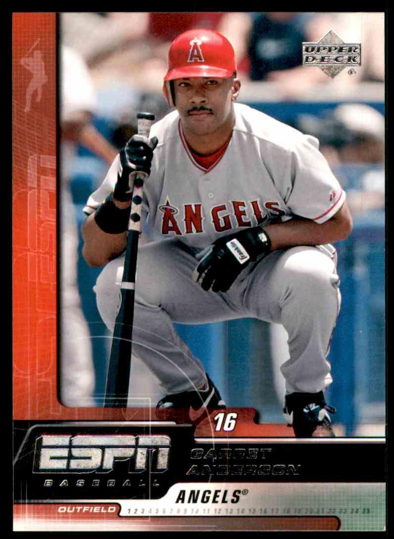 2005 Upper Deck ESPN Garret Anderson #1 card front image