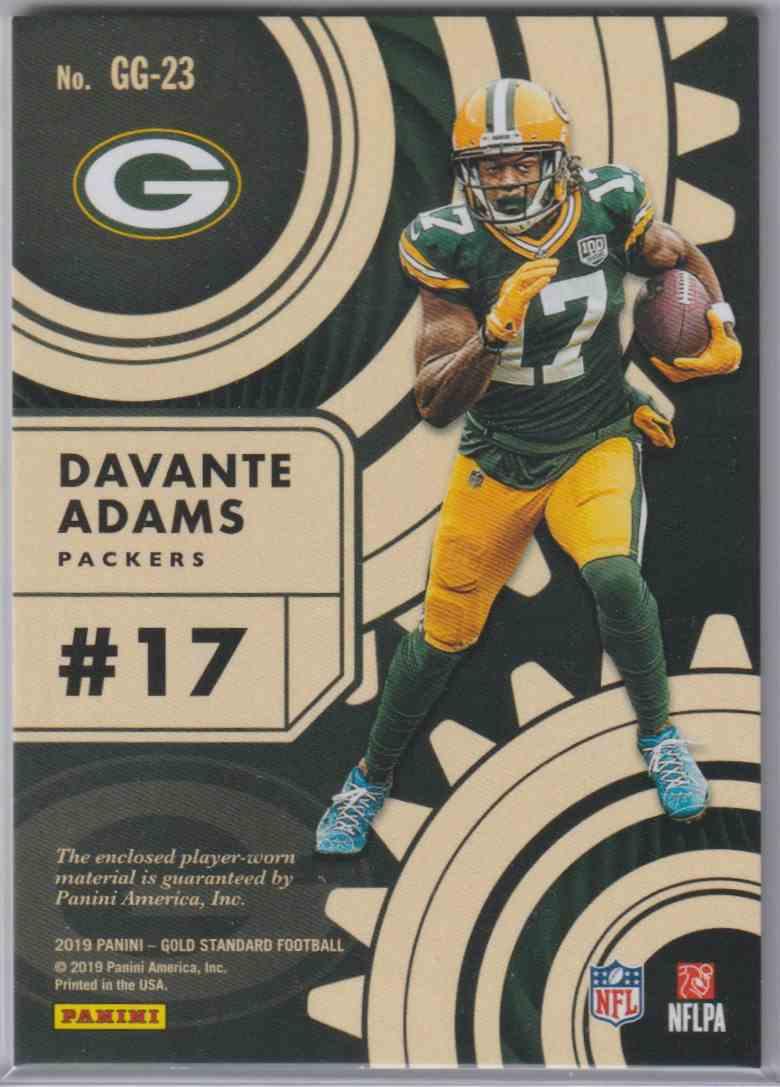 2019 Panini Gold Standard Gold Gear Davante Adams #GG-23 card back image