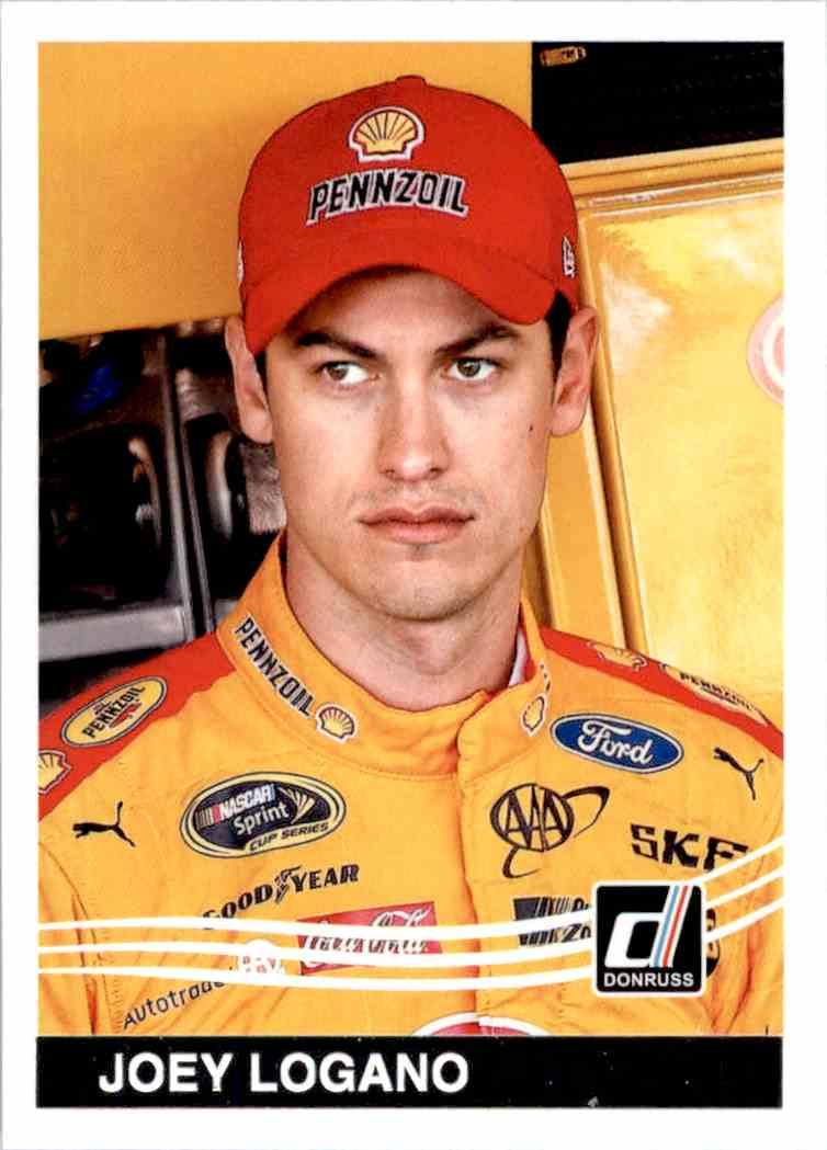 2017 Panini Donruss Racing Joey Logano #142 card front image