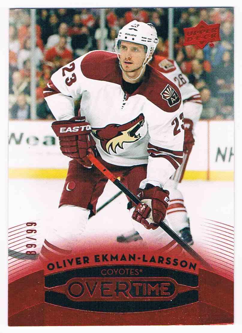 2015-16 Upper Deck Overtime Red Olivier Ekman-Larsson #14 card front image