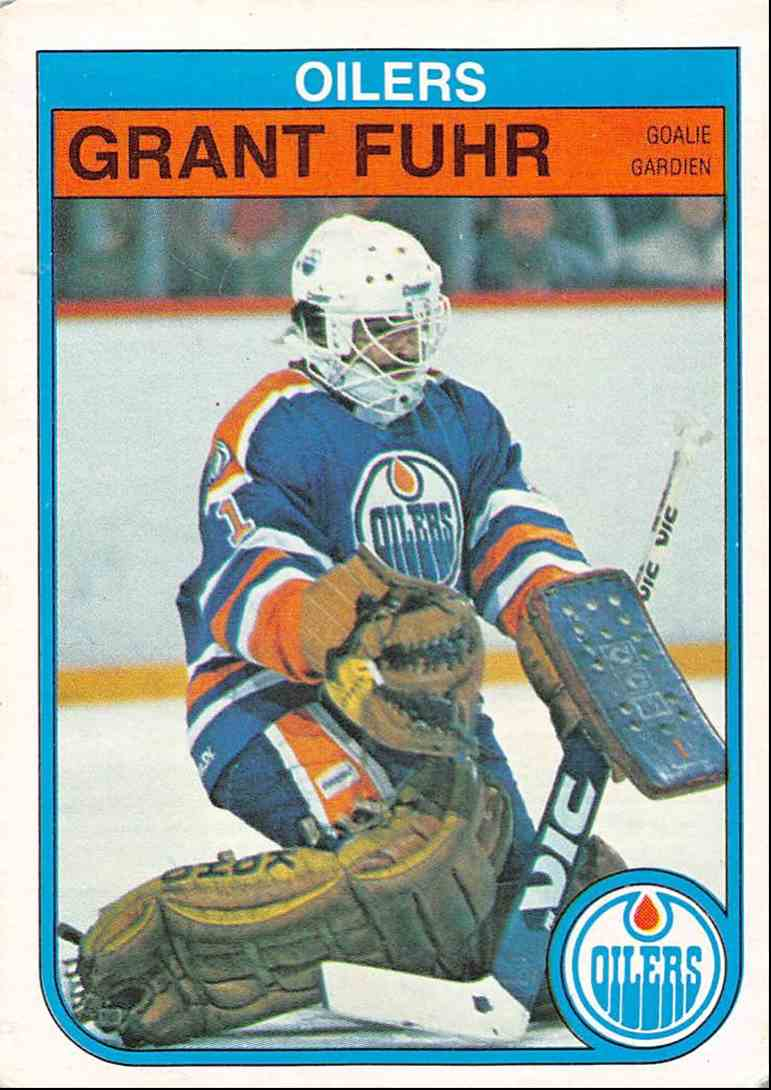 1982-83 O-Pee-Chee Grant Fuhr #105 card front image