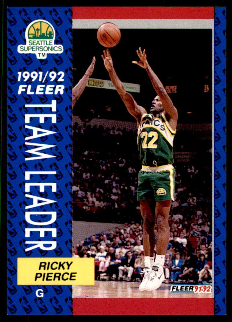 1991 92 Fleer Ricky Pierce 396 on Kronozio