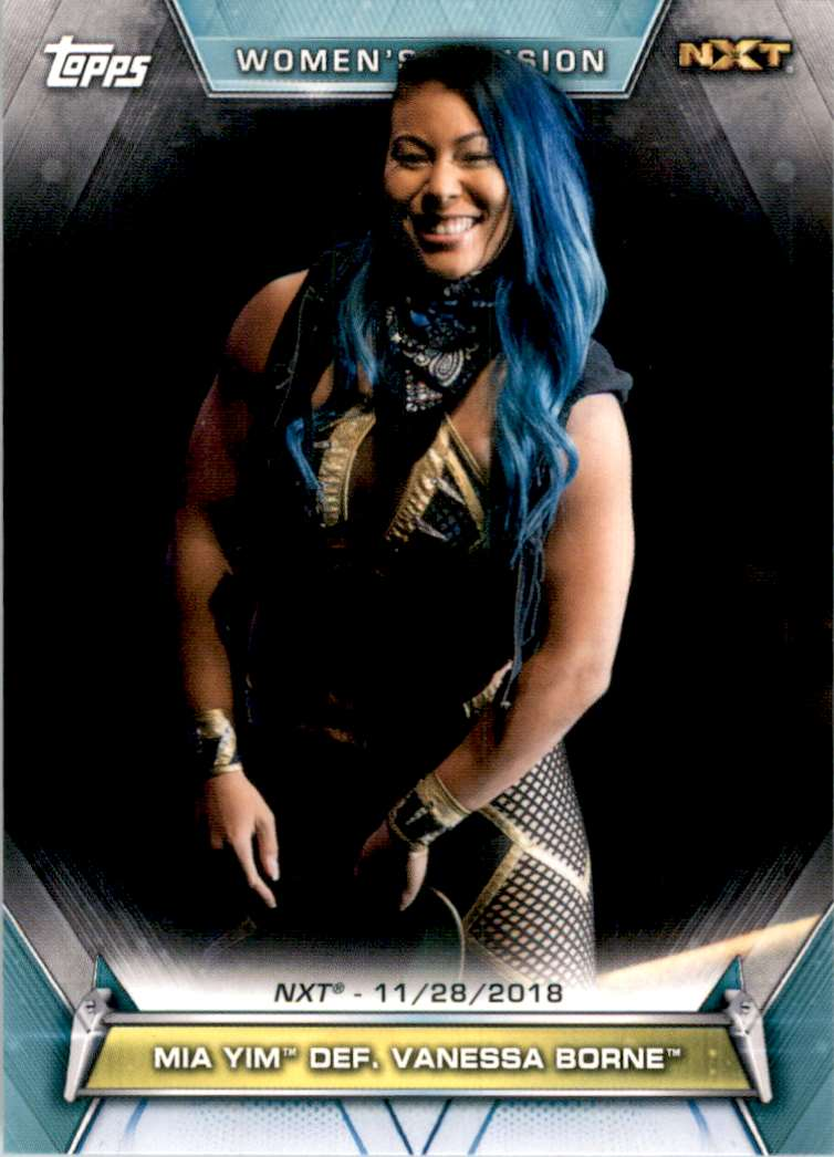 2019 Topps Wwe Women's Division Mia Yim Def. Vanessa Borne #92 card front image