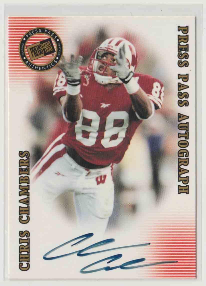 2001 Press Pass Se Autographs Bronze Chris Chambers #8 card front image