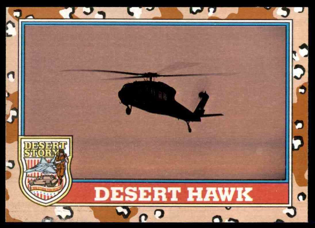 1991 Desert Storm Topps Desert Hawk #127 card front image