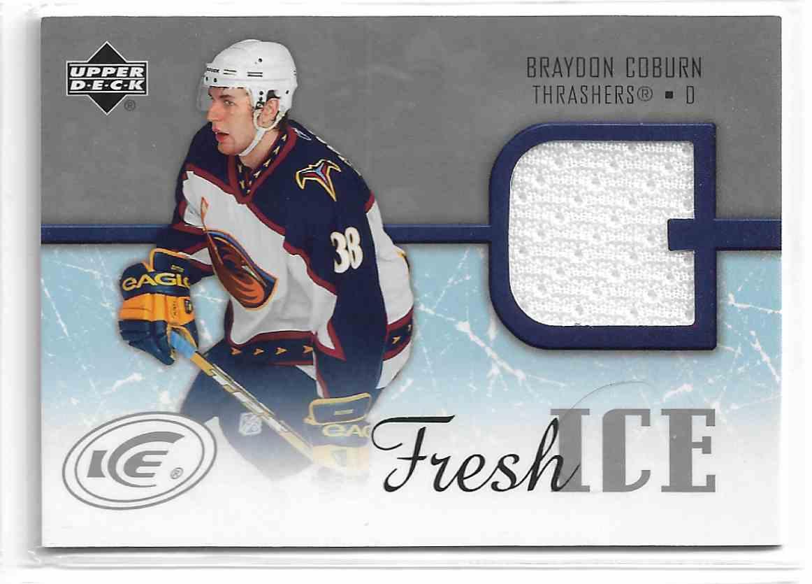 2005-06 Upper Deck Ice Fresh Ice Braydon Coburn #FI-BC card front image
