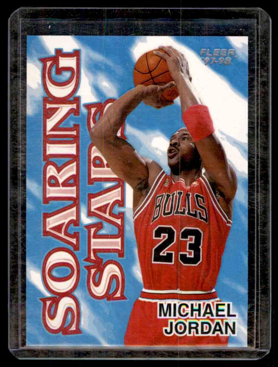 43578112b446 1997-98 Fleer Soaring Stars Michael Jordan  9 card front image
