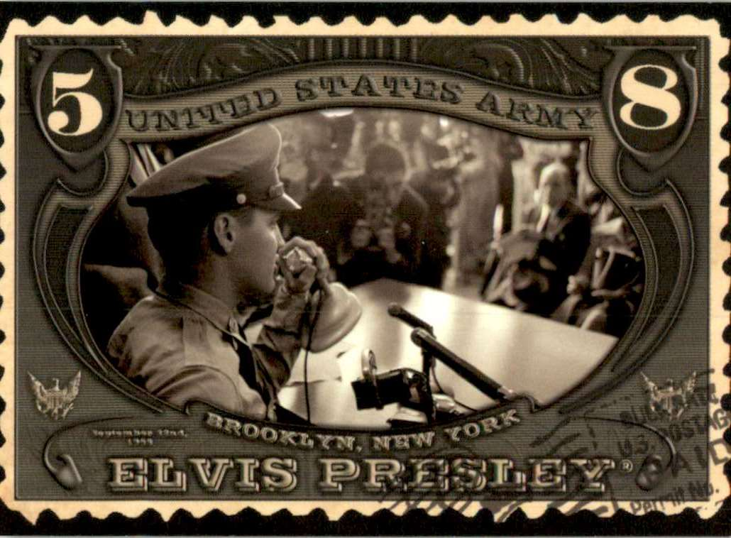 2008 Elvis By The Numbers Wertheimer Army Collection #69 card front image