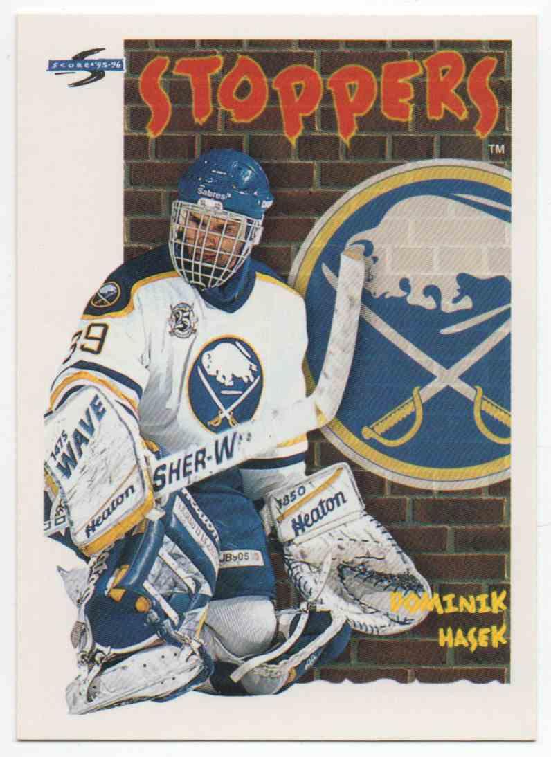 1995-96 Score Dominik Hasek #325 card front image