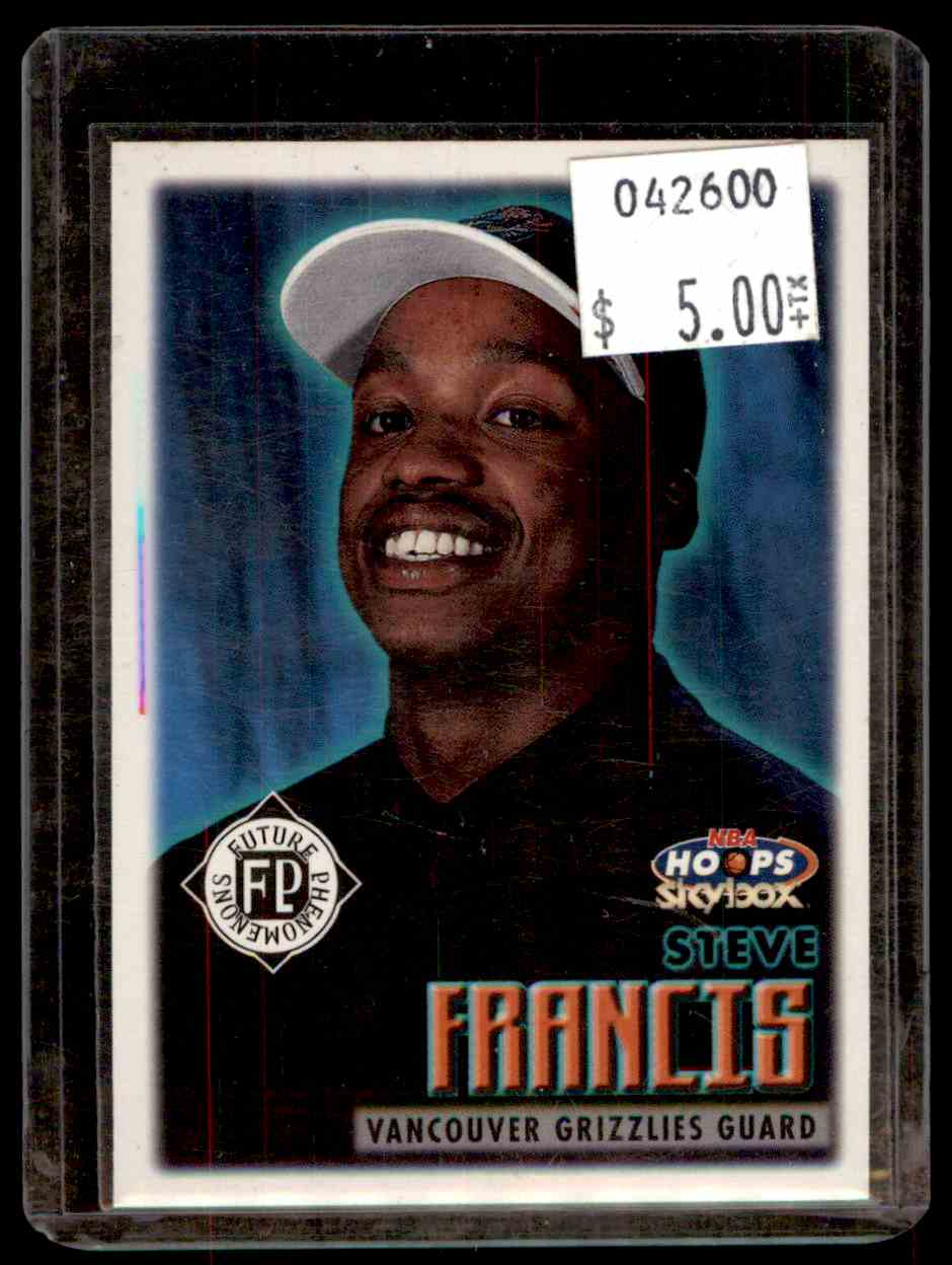 1999-00 Hoops Steve Francis #177 card front image