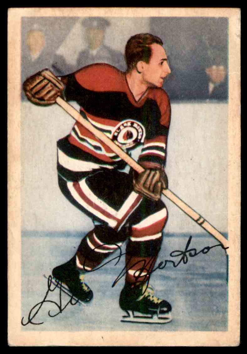 1953-54 Parkhurst James Gus Mortson #81 card front image