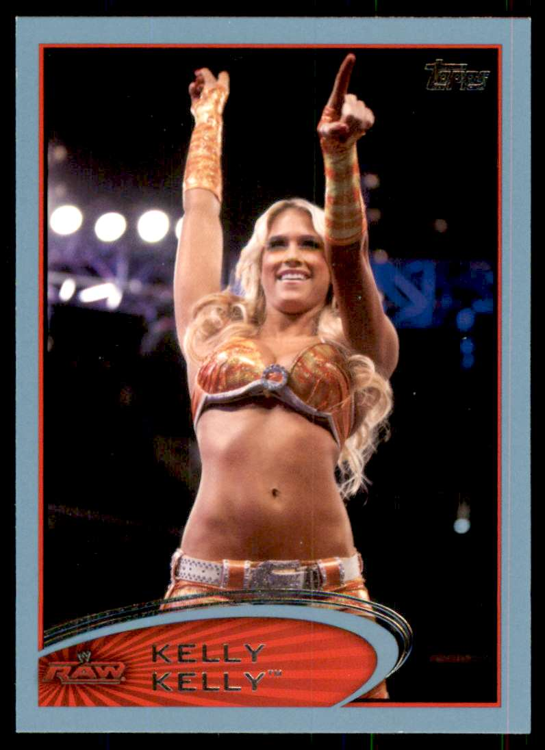2012 Topps Wwe Blue Kelly Kelly #11 card front image