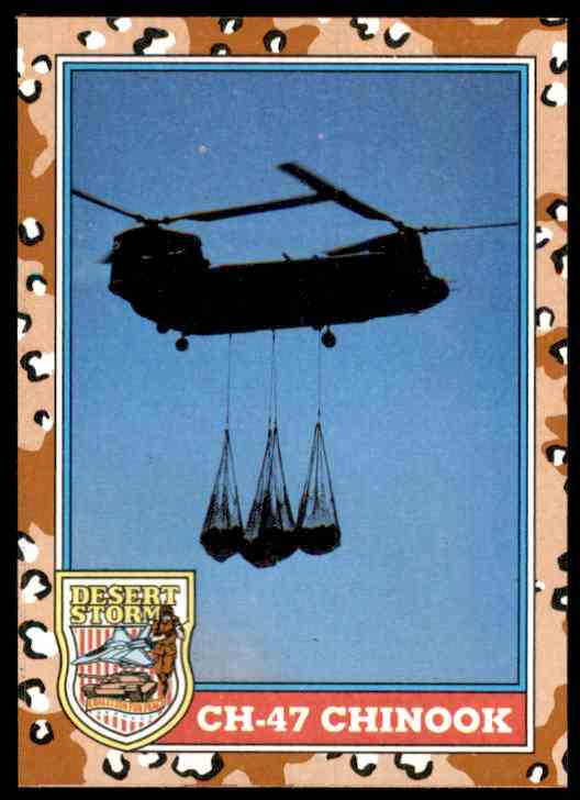 1991 Desert Storm Topps Ch-47 Chinook #125 card front image
