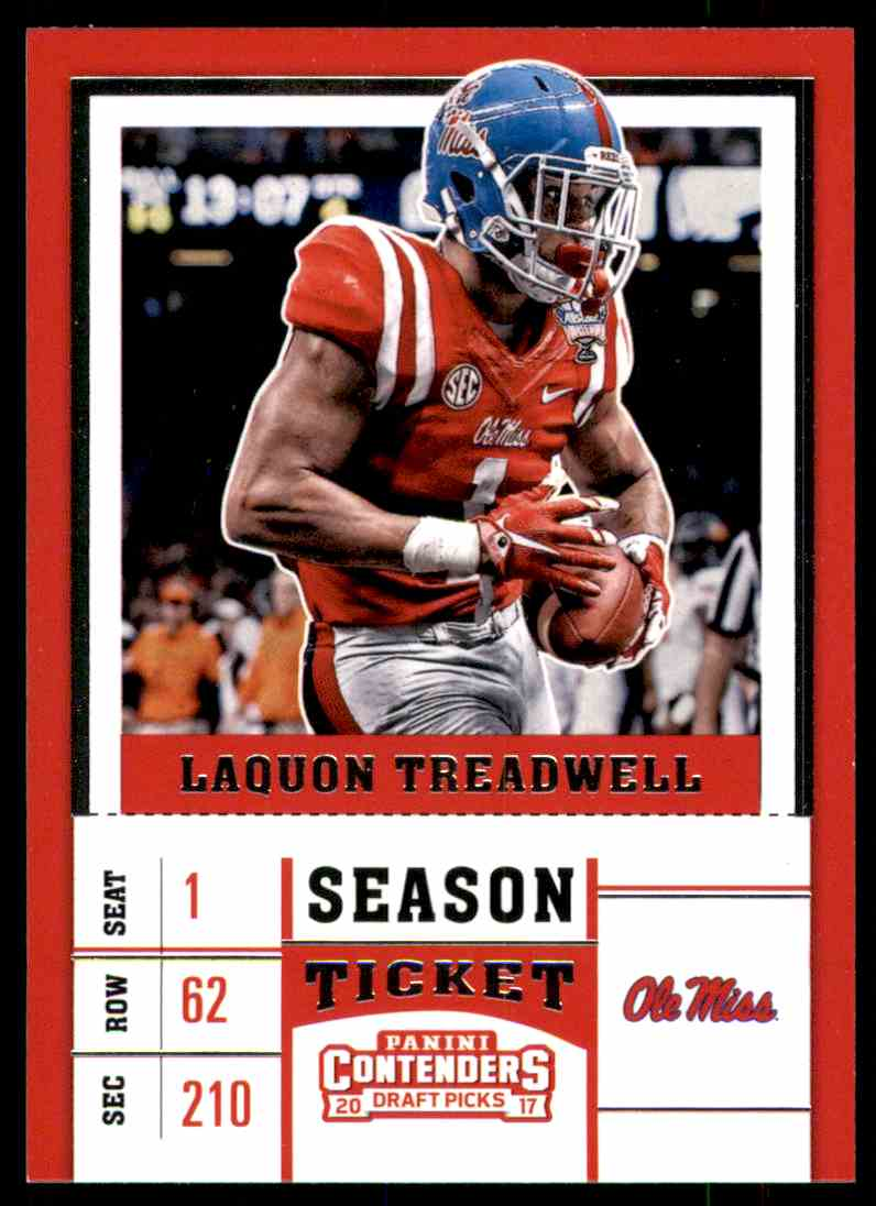 2017 Panini Contenders Draft Picks Laquon Treadwell #62 card front image