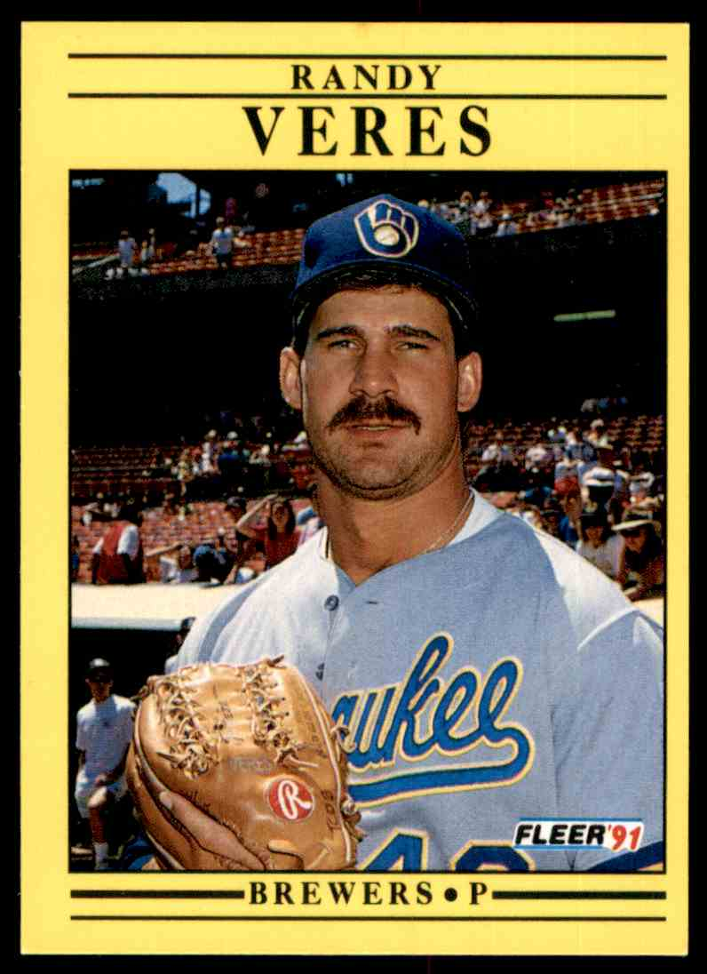 1991 Fleer Randy Veres #600 card front image