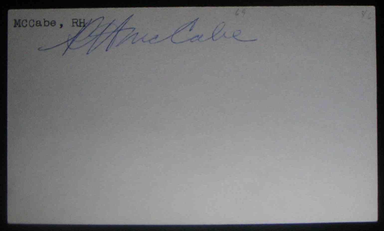 1946 3X5 Ralph McCabe card front image