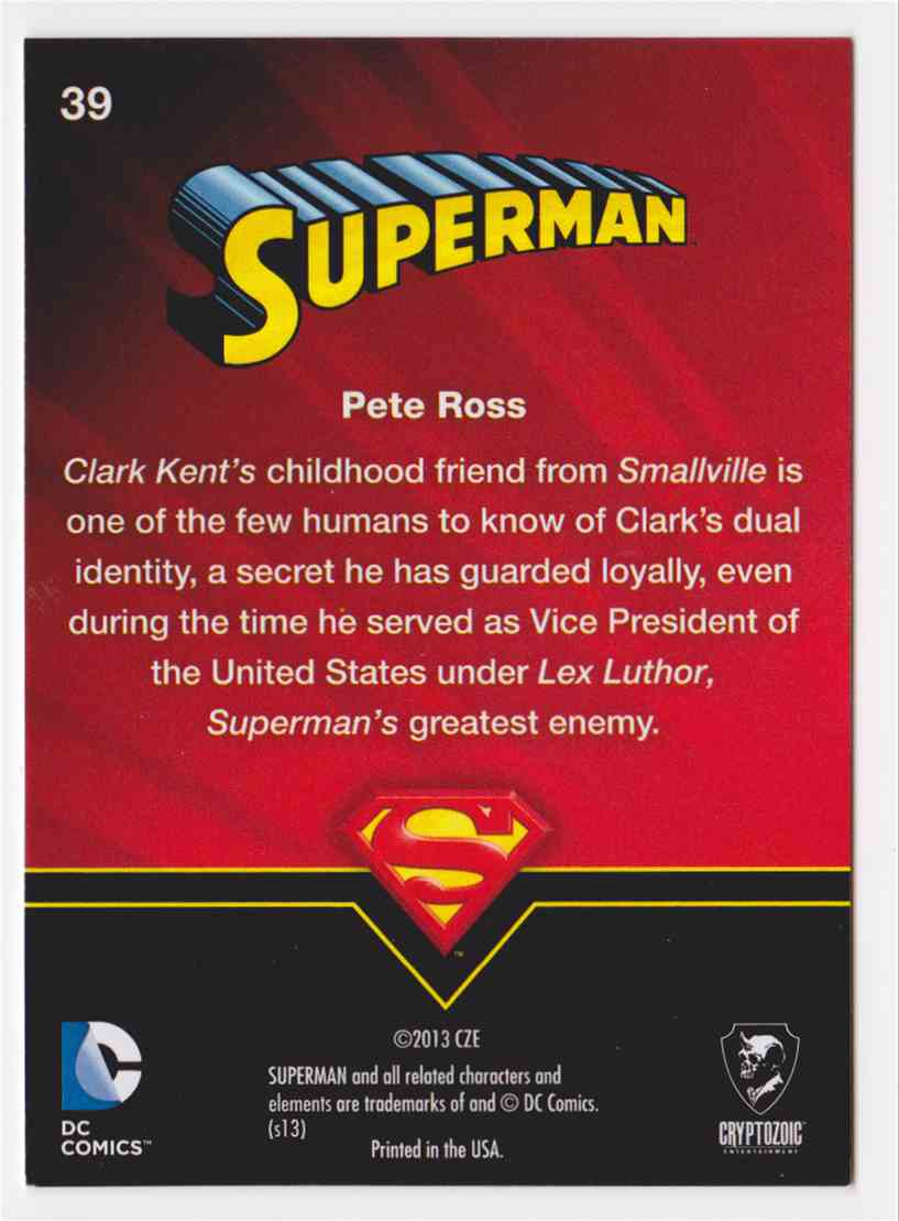 2013 Superman Cryptozoic Superman #39 card back image