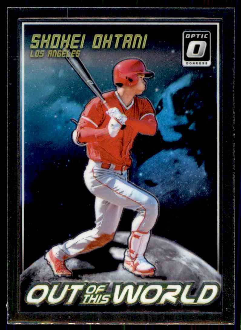 2018 Donruss Optic Out Of This World Shohei Ohtani #OW5 card front image